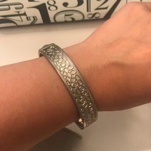 Coach bracelet -matte silver